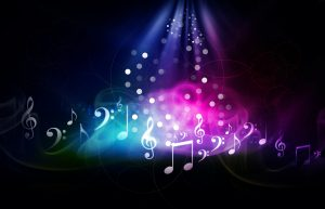 Digital illustration of music background